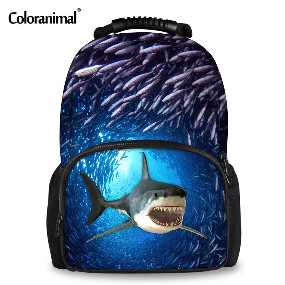 15fc1b376d4d0 Coloranimal Mode 3D Tier Hai Rucksack für Jugendliche Jungen Mädchen  Schultaschen Frauen Männer Reise Große Filz