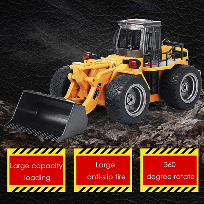 все цены на HUINA 1520 1:18 2.4GHz 6CH RC Alloy Truck Construction Vehicle toy