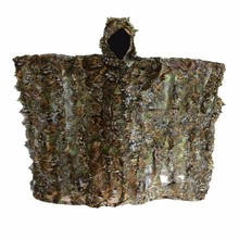 Leafy Poncho Jungle Ghillie Suits 3D Hunting Camouflage With Cap Clothes Yowie Cloak For Sniper Photography