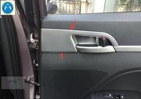 Lapetus For Hyundai Elantra Sedan 2016 2017 ABS Inner Car Door Handle Pull Bowl Frame Decoration Stickers Cover Trim 4 Pcs / Set