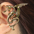 2017 Silver Gold Plated Punk Temptation Metal Dragon Bite Ear Cuff Clip Wrap Earring For Women And Men Wholesale Free Shipping