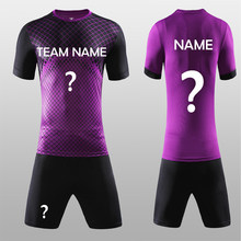 b98677594 Free Shipping New 2018 Nice Purple Color Men s Soccer Jerseys Set Custom  Name Futbol Club Uniforms