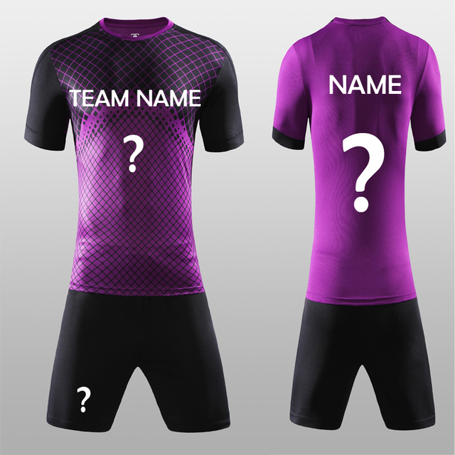 4406381cf1a Free Shipping New 2018 Nice Purple Color Men s Soccer Jerseys Set Custom  Name Futbol Club Uniforms Football Team Kit Suit Jersey
