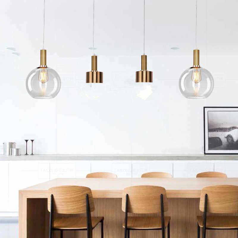 أوروبا قلادة led ضوء خمر الزجاج الألومنيوم مصباح الحديثة شنقا الجلوس غرفة الطعام بار مقهى تركيبة إضاءة