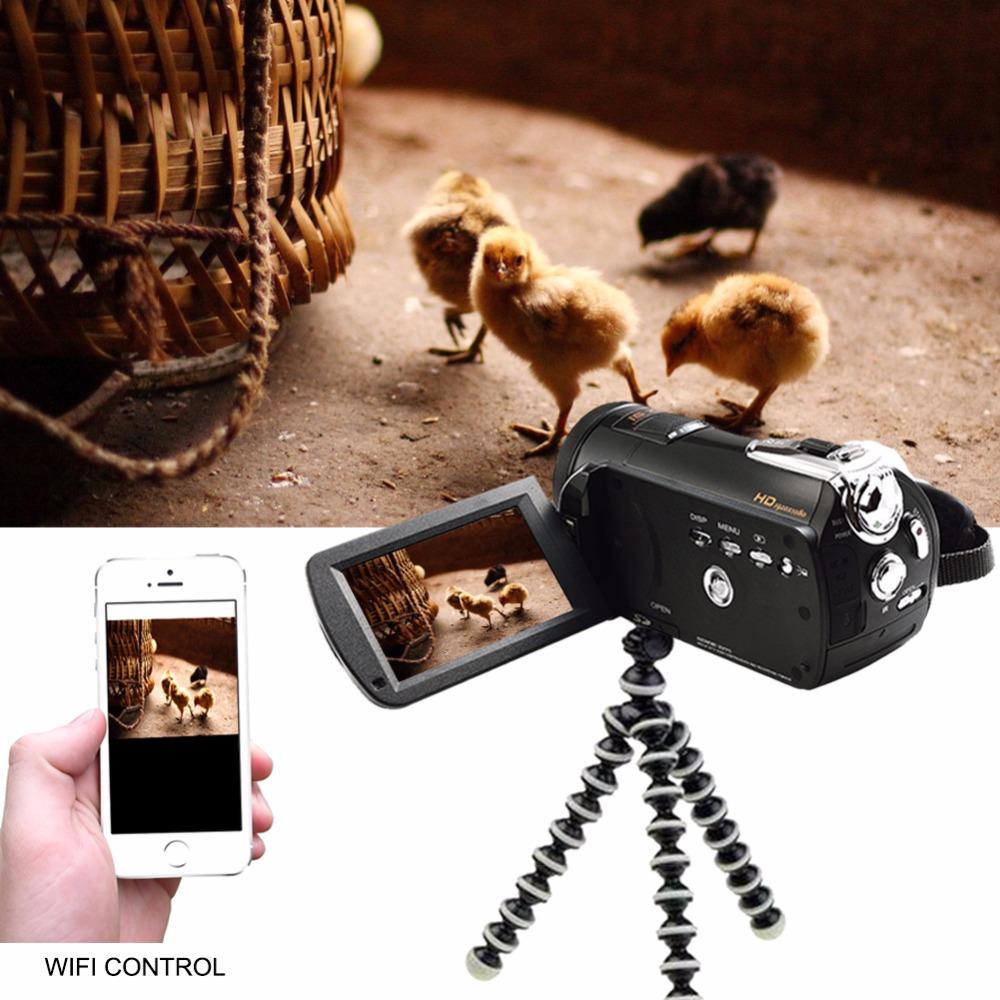 Marvie LED Fill Lights Portable 24.0 MP 3.0 Screen DV Camera FHD Camcorder Digital Video Recorder 16X Zoom IRNight Vision Cam 7
