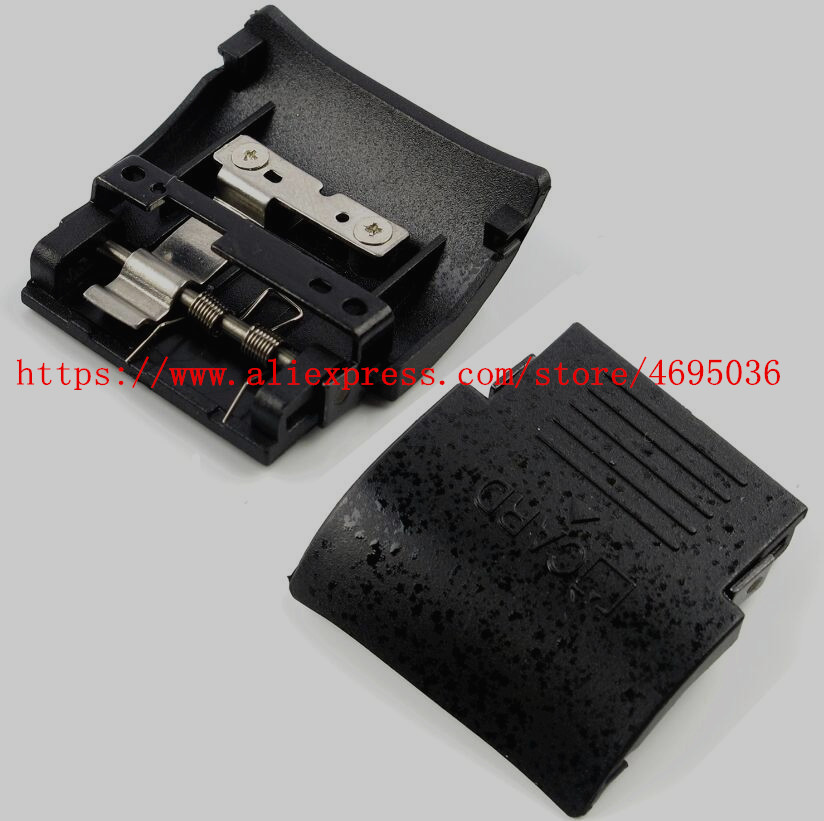 New SD Memory Card Chamber Door Cover For Nikon D90 With Spring And Metal Plate Camera