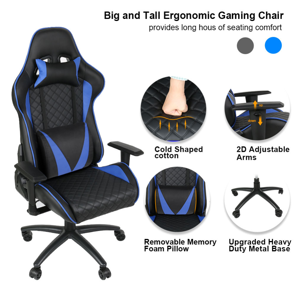 Ship From Us Ergonomic Computer Gaming Chair Racing High Back Pu