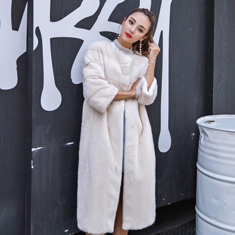 Vison 2019 Hiver Manteau X Y Réel Femmes Perte Naturel Noir cou long Fourrure M O De Cygne Import Fansty Manteaux Usa Velours Et0tTq
