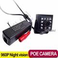 POE 960 P ONVIF interior IR CUT Visión Nocturna P2P Plug and Play P2P Cámara de Red de 10 Unids Invisible 940nm Leds Ir Con corte
