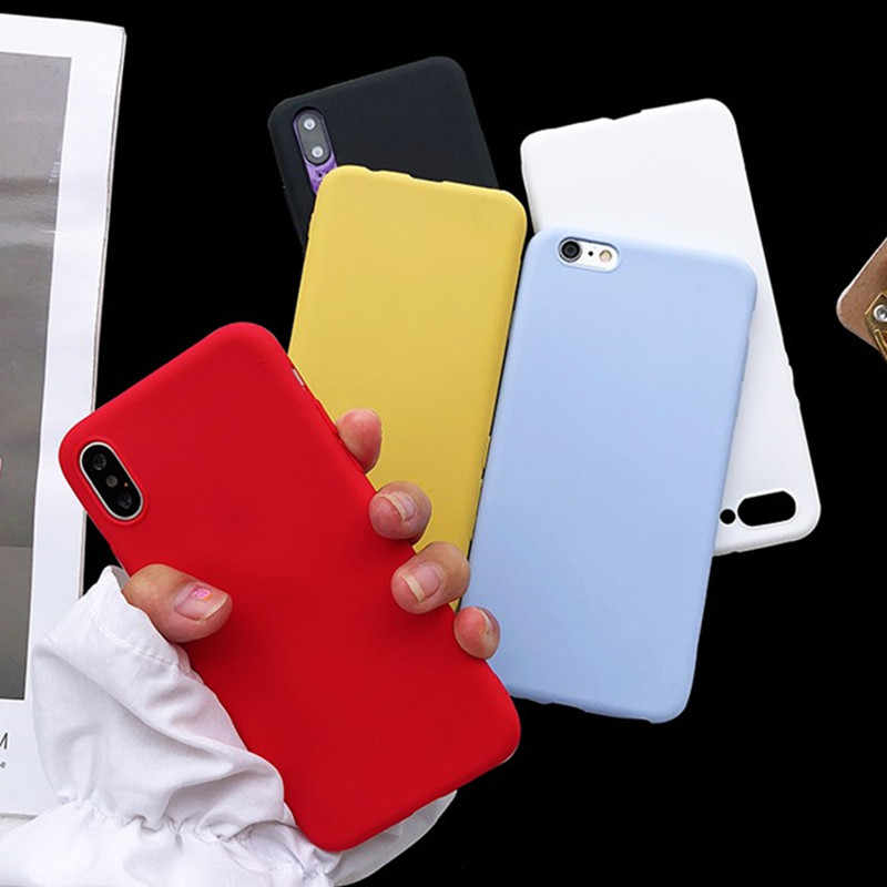 Matte Candy Color Silicone TPU Cases For Samsung Galaxy S9 S8 J3 J4 J5 J6 J7 J8 A3 A5 A6 A7 A8 A9 2017 Plus 2018 A750 Cover Capa