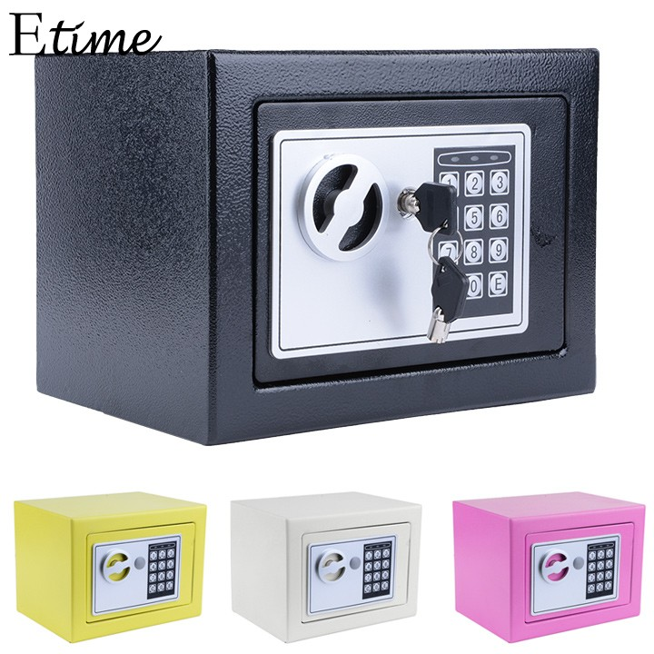 FANALA Digital Electronic Safe Security Box Wall Jewelry Organizer with 2 keys Watch Box Case for Luxury Watch Luxury Jewelry