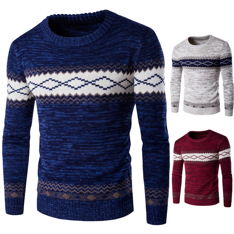 c1351ee0b217d2 2017 eisure Ukraine chandail Cotton male Men Sweater pulls slim colors homme  thermal knitted patchwork long sleeve XXL pullover -in Pullovers from Men s  ...