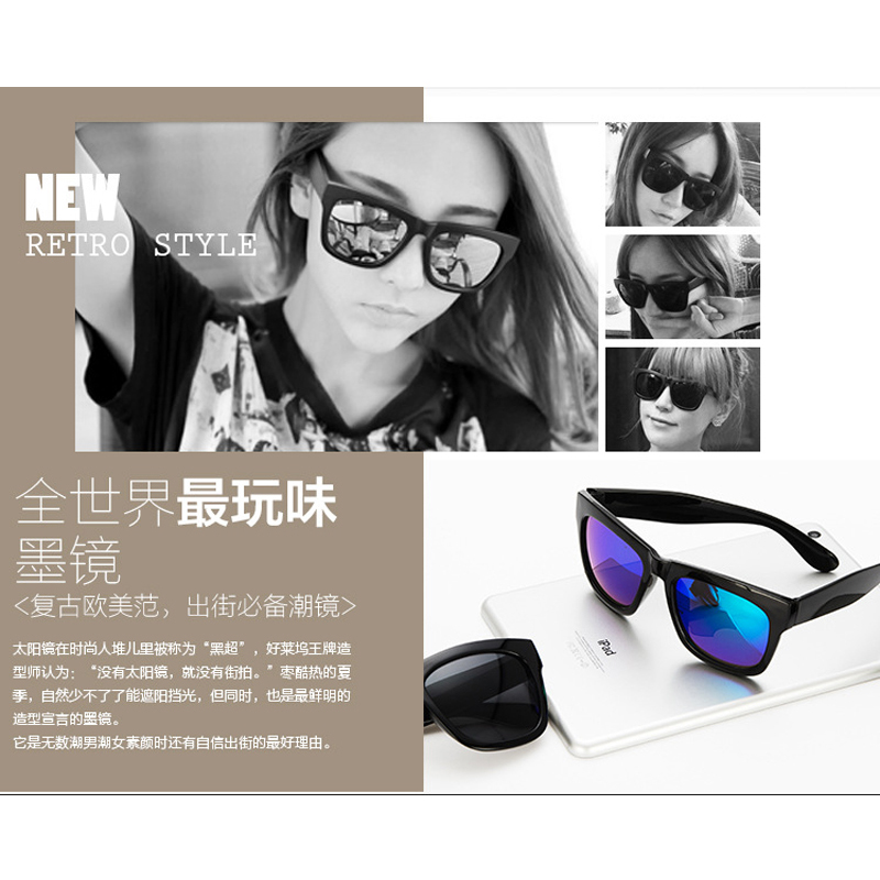 b4a9c41704 100 to 400 Myopia prescription sunglasses sauqre sun glasses blue mirror eyewear  sunglasses for women men-in Sunglasses from Apparel Accessories on ...