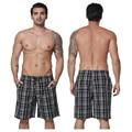 Board shorts men swimwear brand clothing cotton plaid beach board shorts male casual short shorts mens sweatpants