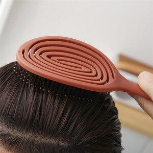 Image 3 - Youpin Xinzhi peine de masaje elástico relajante, cepillo de pelo portátil, cepillo de masaje, cepillos mágicos antiestáticos, peinetas para la cabeza
