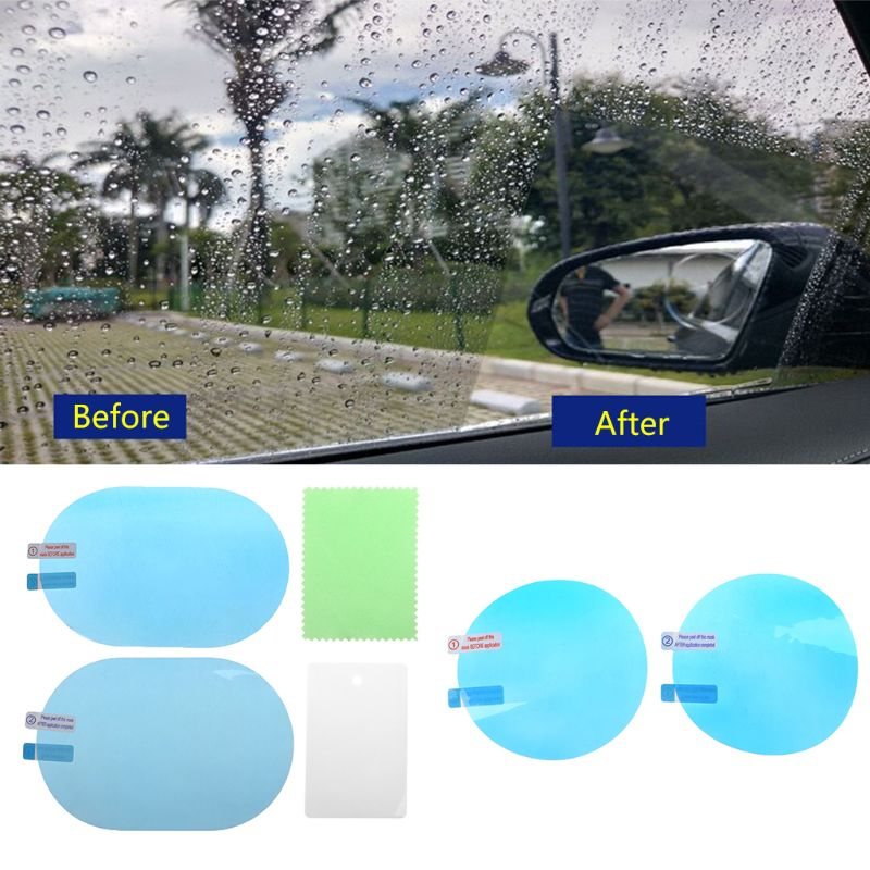 2PCS Car Rearview Mirror Protective Film Anti Fog Window Foils Rainproof Rear View Mirror Protective Film(China)