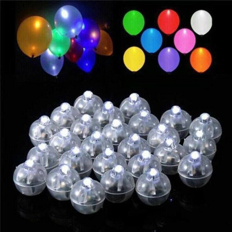 100 Led Ball Lamps Balloon Light For Paper Lantern Wedding Party Decor UK