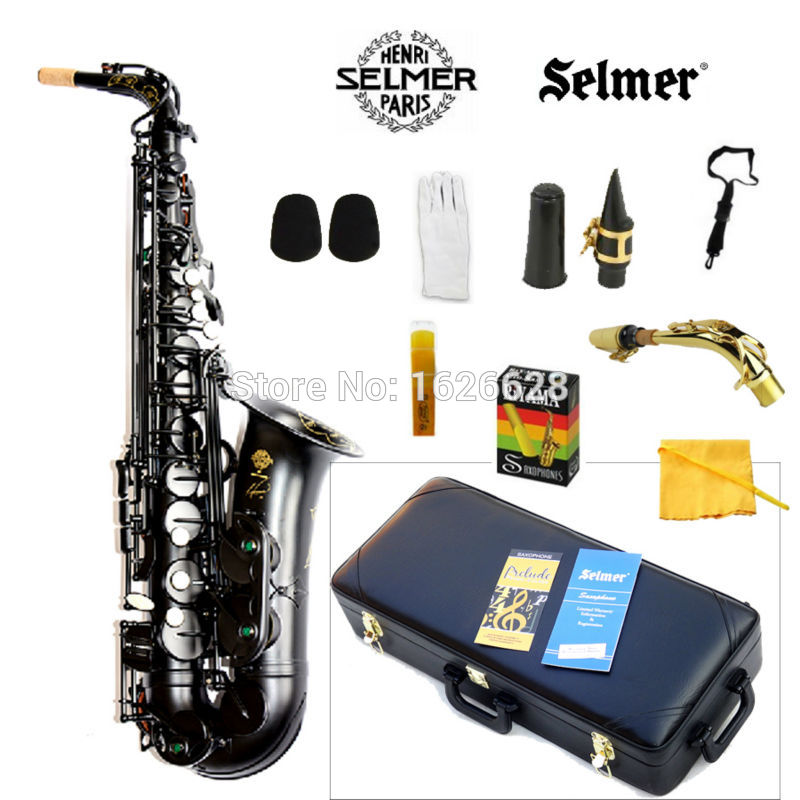 New France Selmer Alto Saxophone 54 Professional E Black Pearl Sax mouthpiece With Case and Accessories Free Shipping 200 pcs fc 14p 14 pins male idc socket plug ribbon cable connector black free shipping