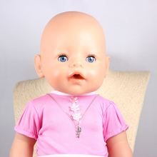 Doll Accessories Lovely Baby Girl Charm Necklaces Pendant Fit 43cm Doll Baby Born zapf Children best