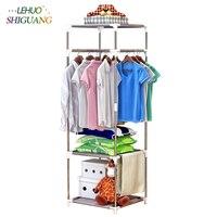 Coat Racks Simple Multi Function Floor Bedroom Hanger Creative Home Clothing Store Clothing Rack