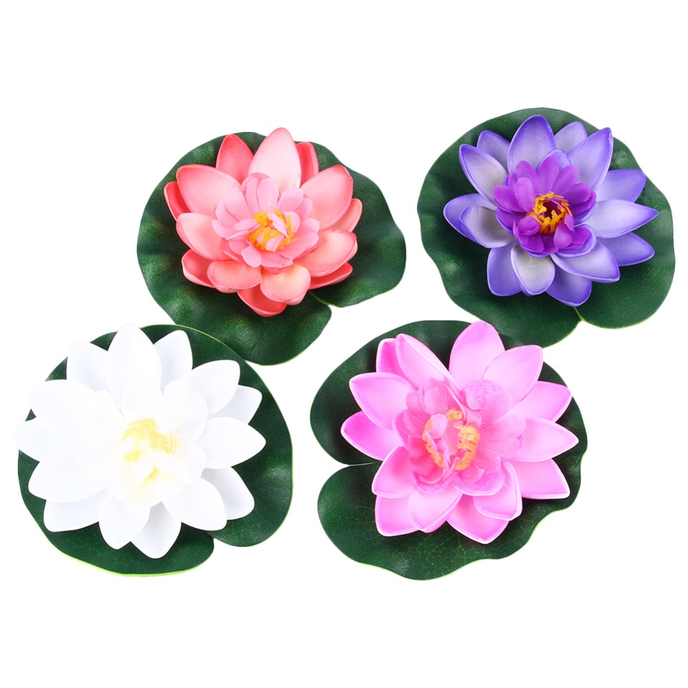Aliexpress buy floating artificial lotus ornament for aquarium aliexpress buy floating artificial lotus ornament for aquarium fish tank pond water lily floating flower garden home pool pond tank plant from izmirmasajfo