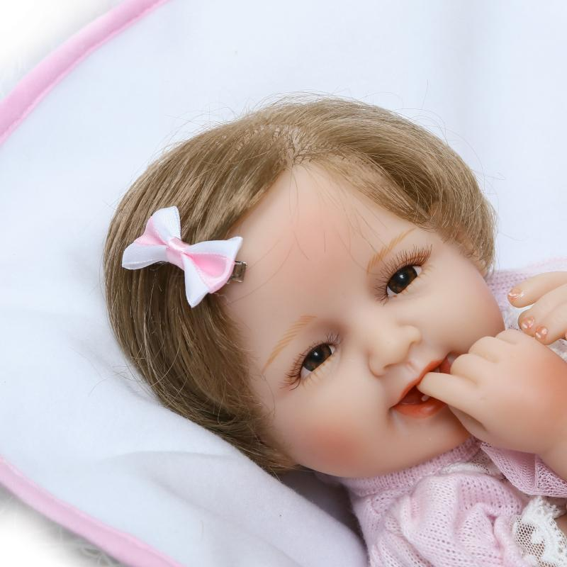 16''Silicone reborn baby doll toys Lifelike Reborn babies Bebe Reborn girl doll kids child birthday gift girl boneca Juguetes bebe 55cm full body silicone reborn baby girl doll toys lifelike baby reborn doll kids child birthday gift bonecas reborn