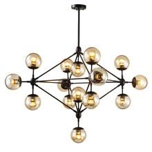Moderno loft industrial modo luz do candelabro lâmpada led ferro de vidro pendurado luz para foyer sala jantar restaurante