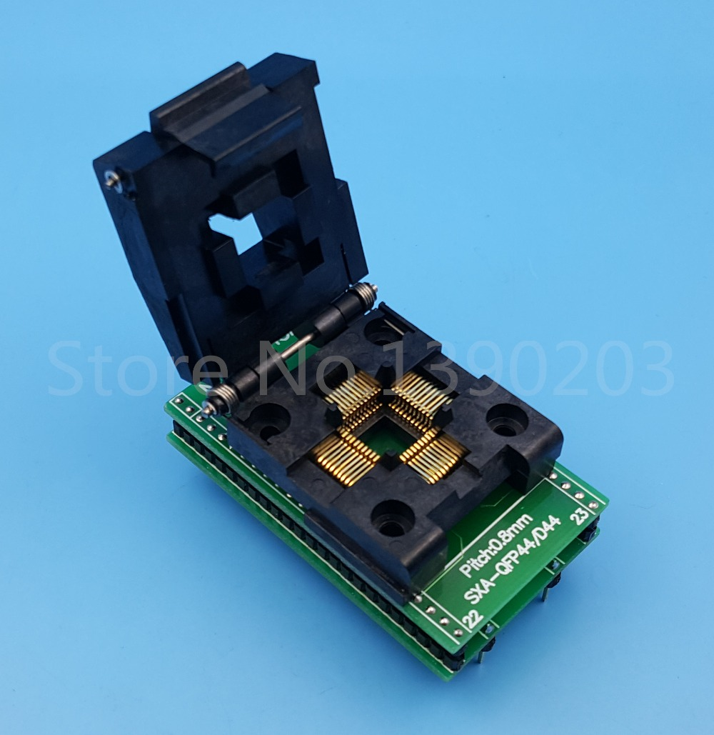 QFP44/PQFP44/TQFP44 To DIP44 SA245A Pitch 0.8mm IC Programmer Socket AdapterQFP44/PQFP44/TQFP44 To DIP44 SA245A Pitch 0.8mm IC Programmer Socket Adapter