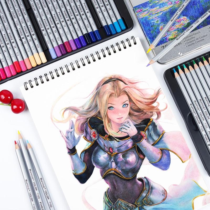 Marco raffine lápices 48 72 Unidades para colorear libros artista ...