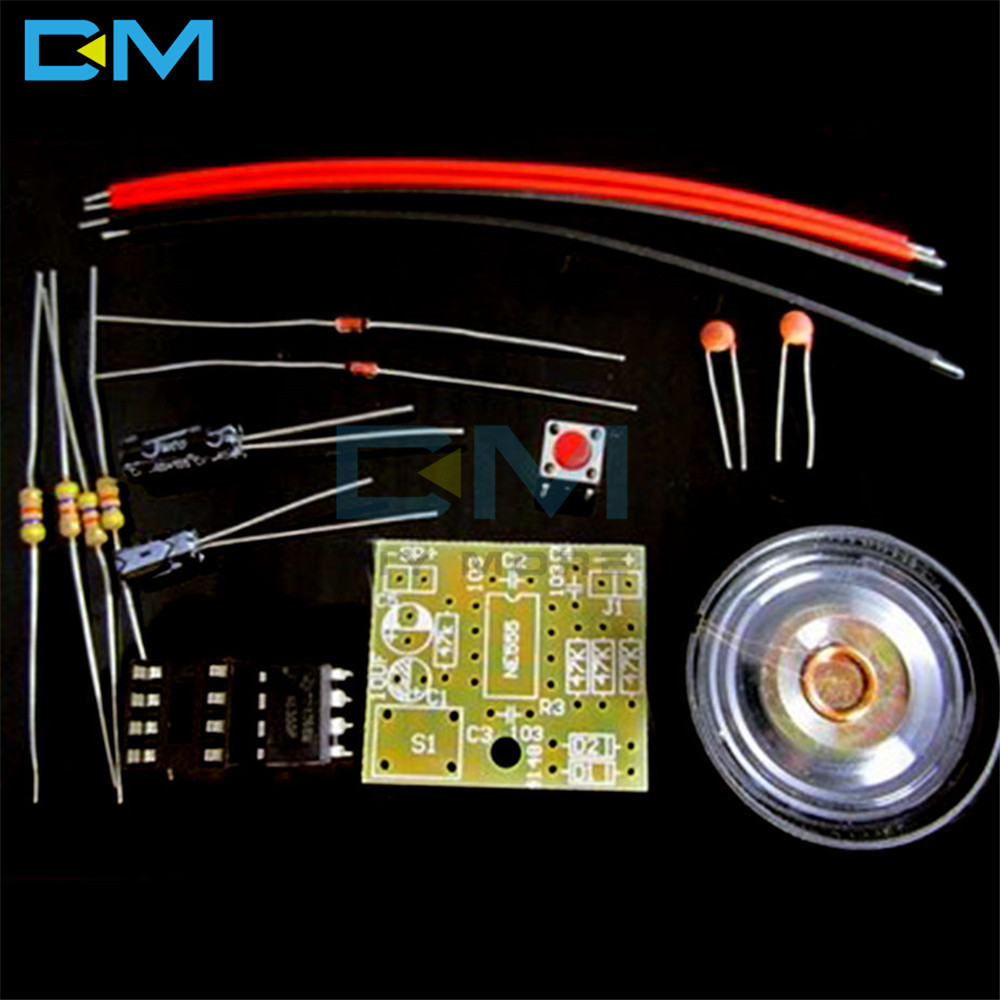 Perfect Doorbell Suite Electronic DIY Kit Production Door Bell DIY Kit NE555 Chip TOP Suite Wholesale