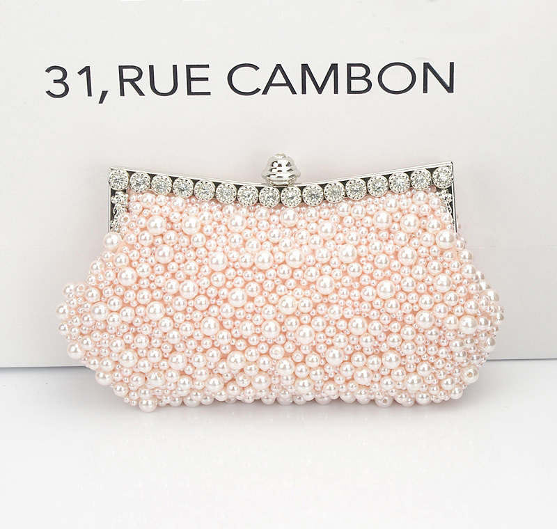 3color New Women Evening Clutch Bag Small Full Imitation Pearl Diamond Beaded Handbag Bridal Purses Bolsos Mujer Bolsa Feminina In Clutches From Luggage