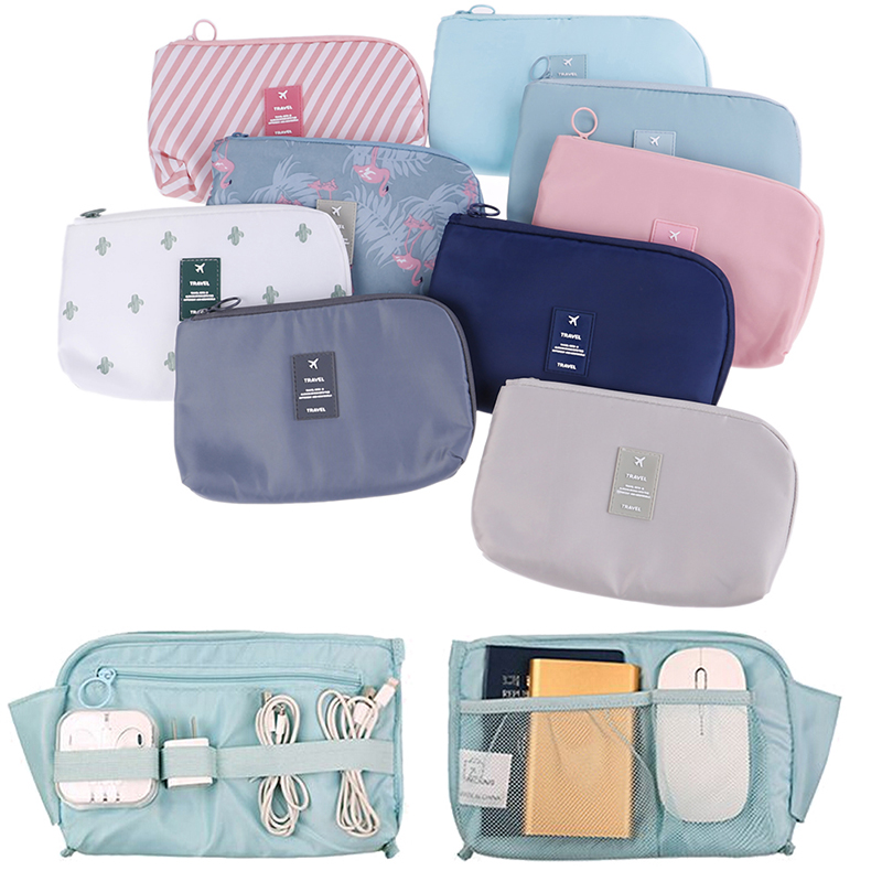 7 Style Cosmetic Bag Women Necessaire Make Up Bag Travel Waterproof Portable Flamingo Makeup Bag Toiletry Kits