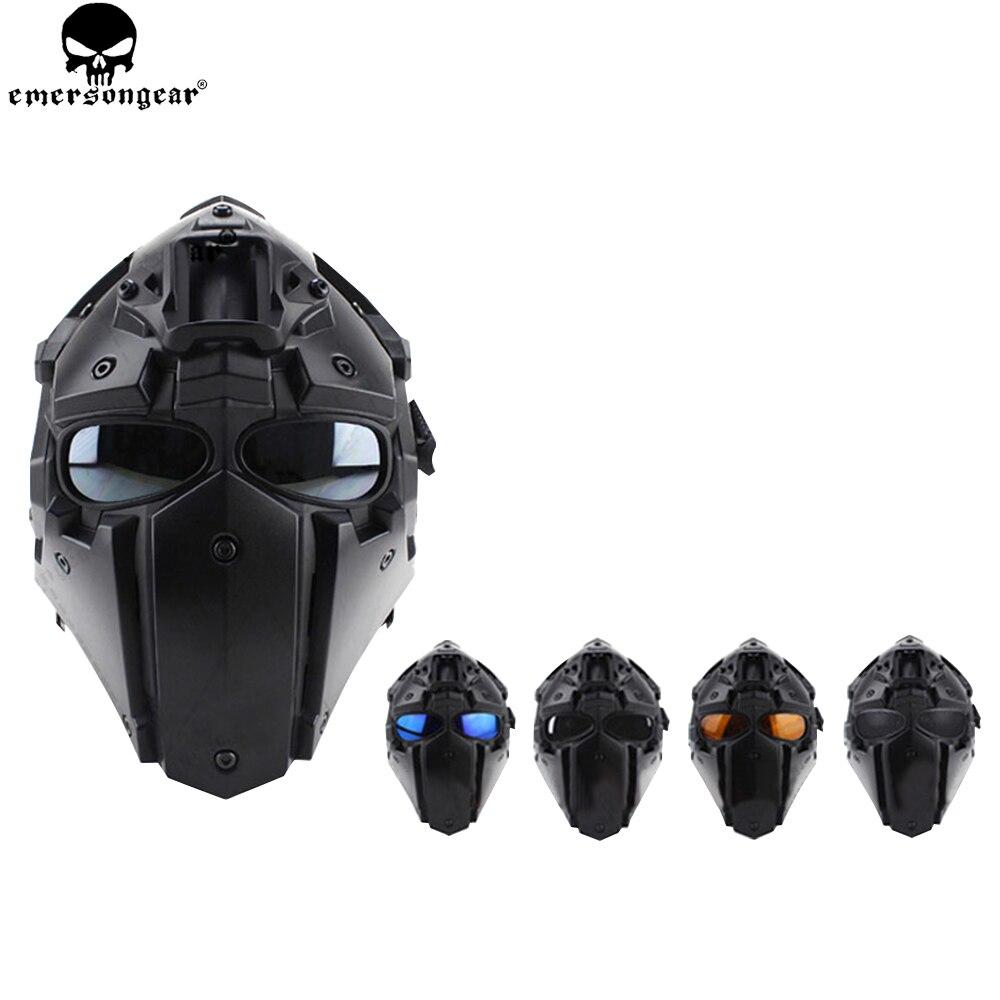 EMERSONGEAR Ronin ventilateur plein Mas lunettes masque masque en plastique 5 pièces lentille un ensemble masque de protection lunettes emerson casque BD6646 - 2