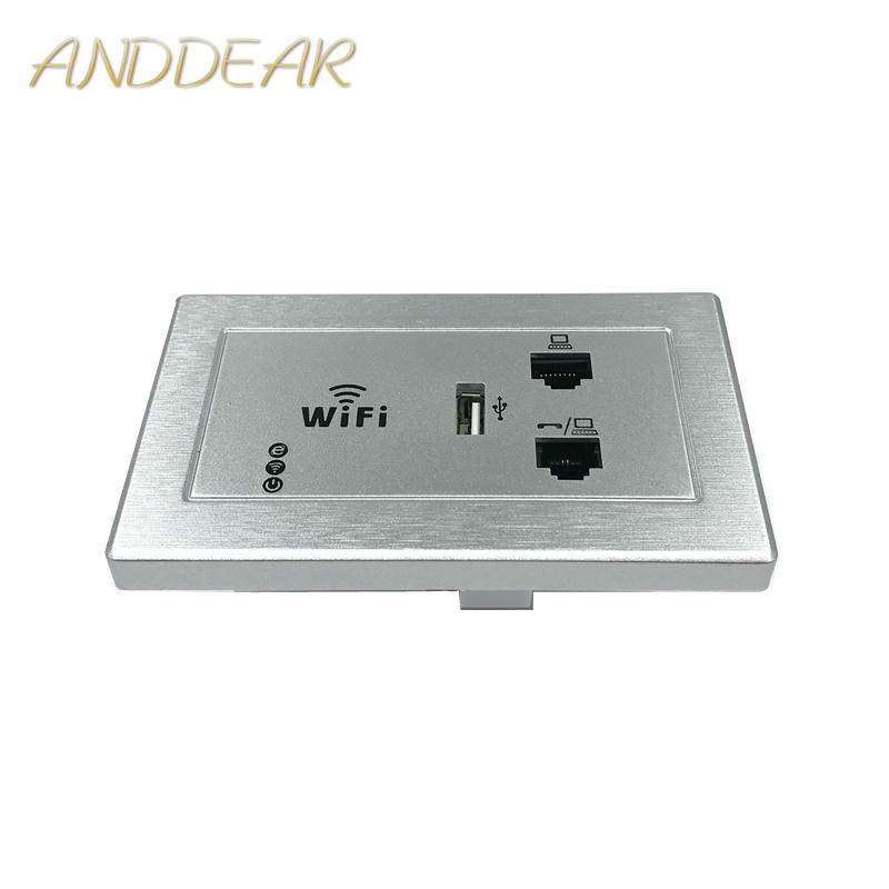 ANDDEAR white Wall AP high quality hotel room Wi-Fi cover mini wall mount AP router access point can pick up the phone line image