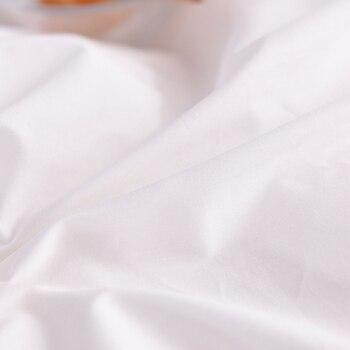 100% כותנה לבן שמיכה כיסוי טהור צבע יוקרה שמיכת כיסוי Twin מלא מלכת מלך פשוט בית טקסטיל (לא כולל שמיכה)