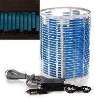 LED Lampe Bleu Clair De Voiture Rhythm Autocollant Activé au Bruit Equalizer 90x25 cm