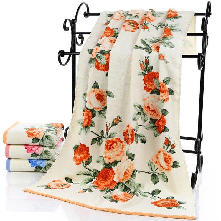 HAKOONA Roses Wreaths Floral Printed Large Bath Towel For