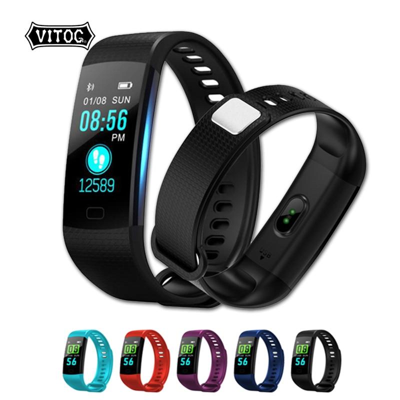 VITOG Y5 Smart Bracelet IP67 Waterproof Heart Rate Blood Pressure Oxygen Fitness Bracelet Multi Sport Mode