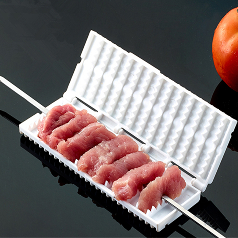 1-pcs-Meat-Grill-Tools-White-Wear-String-BBQ-Tools-Multi-function-Barbecue-Skewer-Machine-Wear