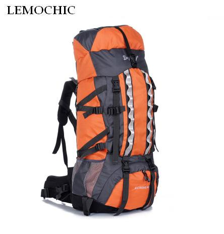 LEMOCHIC 100L adjustable waterproof Mountaineering rucksack Sports Travel Bags Outdoor Camping Hiking fishing Climbing backpack lemochic high 65l outdoor mountaineering bag waterproof sport travel backpack camping hiking shiralee luggage canvas rucksack