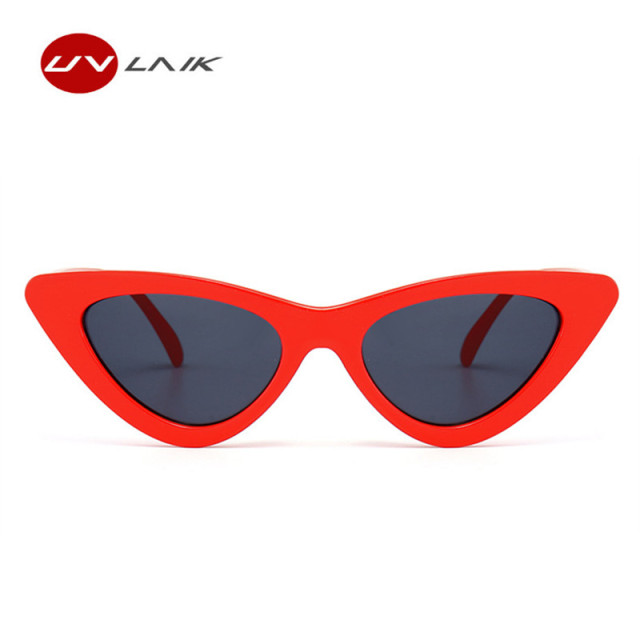 UVLAIK Women's Cat Eye Sunglasses, Vintage Retro, Plastic Frame, Brand Designer Female Fashion UV400