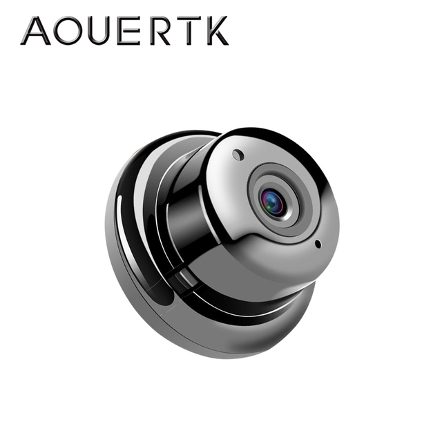 AOUERTK 90/180 Degree Camera720P Two Way Audio SD Card Slot WiFi  night vision Video IP Camera WiFi Mini CCTV