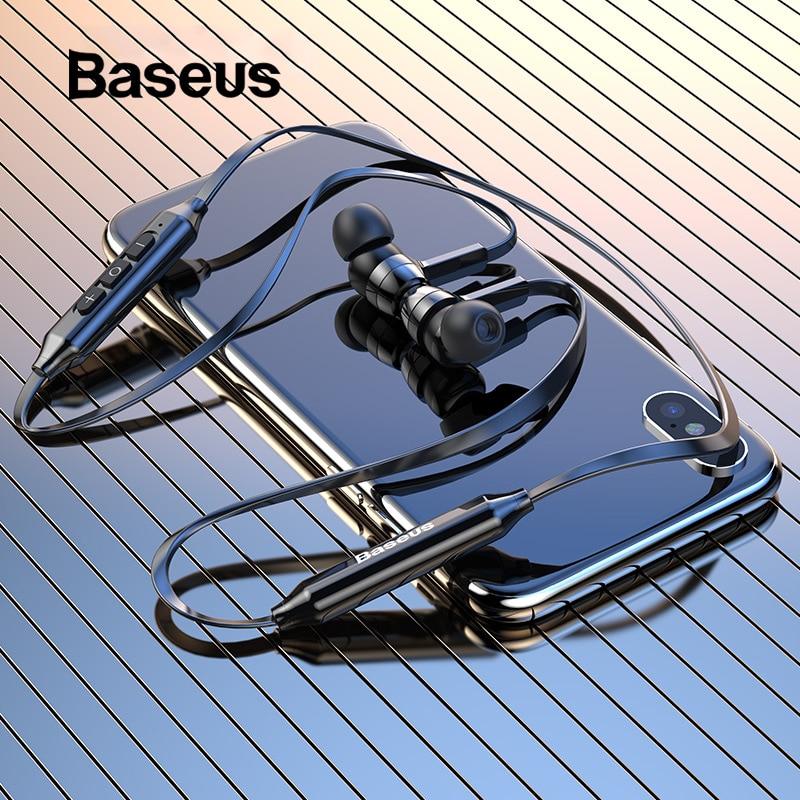 Baseus S06 Bluetooth Kopfhörer Drahtlose Magnetische Neckband Ohrhörer Freisprecheinrichtung Sport Stereo Ohrhörer Für Samsung Xiaomi Mit MIC