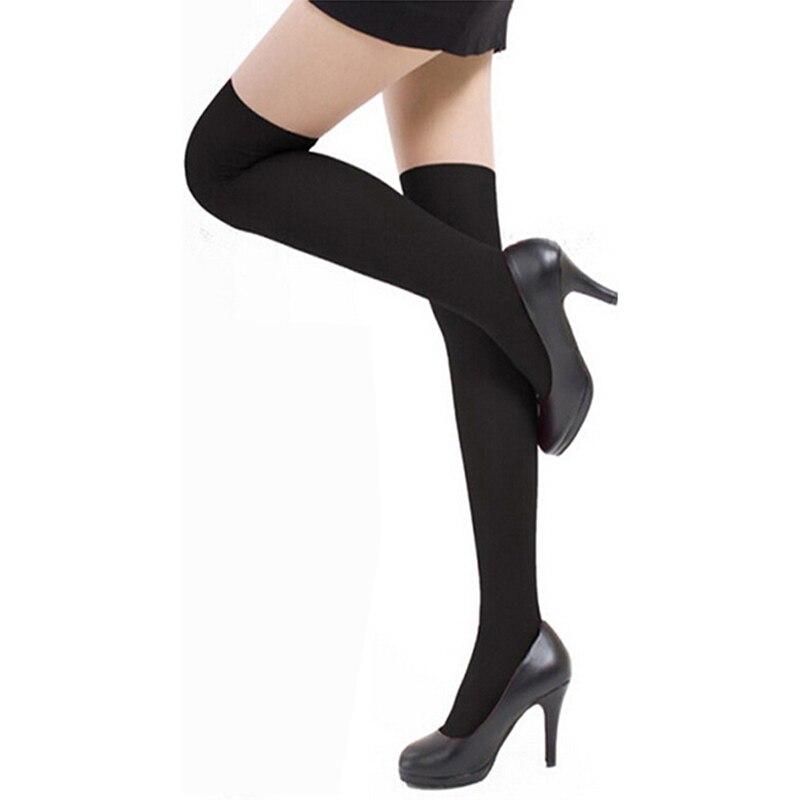 Women Sexy Warm Thigh High Stockings Over Knee Socks Velvet Calze Stretch Stocking Temptation Medias Overknee Long Socks in Stockings from Underwear Sleepwears