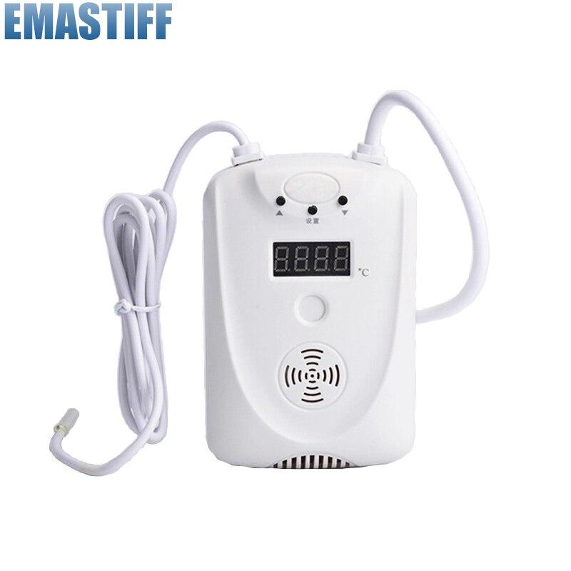 Бесплатная доставка! провода Температура Регулируемый детектор Светодиодный Дисплей сигнализации Сенсор с реле Выход NO/NC, для GSM система си...