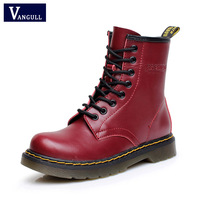 2018 Genuine leather women martin boots winter warm shoes botas feminina female motorcycle ankle fashion boots women botas mujer