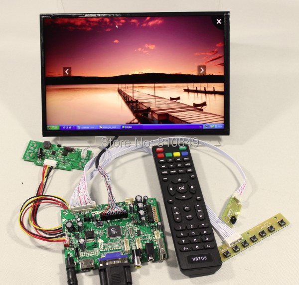 HDMI+VGA+AV+Audio+USB FPV Control board+10.1inch B101UAN01/2 1920*1200 IPS LCD screen model lcd for Raspberry Pi  hdmi vga av audio usb fpv control board 14inch ltn140at26 lp140wh1 1366 768 lcd screen model lcd for raspberry pi
