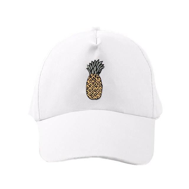 bd617e07a9b3b Online Shop Summer Fruit Pineapple Baseball Cap For Women Girls Dad Hat  Casual Sport Snapback Bone Caps Men Hats