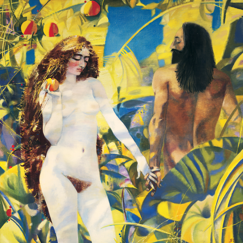 nude canvas prints figurative giant posters realisim canvas painting Adam and Eve home decorative articles art image