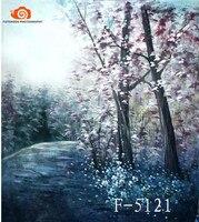 Профессиональный 10' x 20/3x6 м цветок фотографии живописных фонов, ручная роспись Муслин детей фото фонов F5121